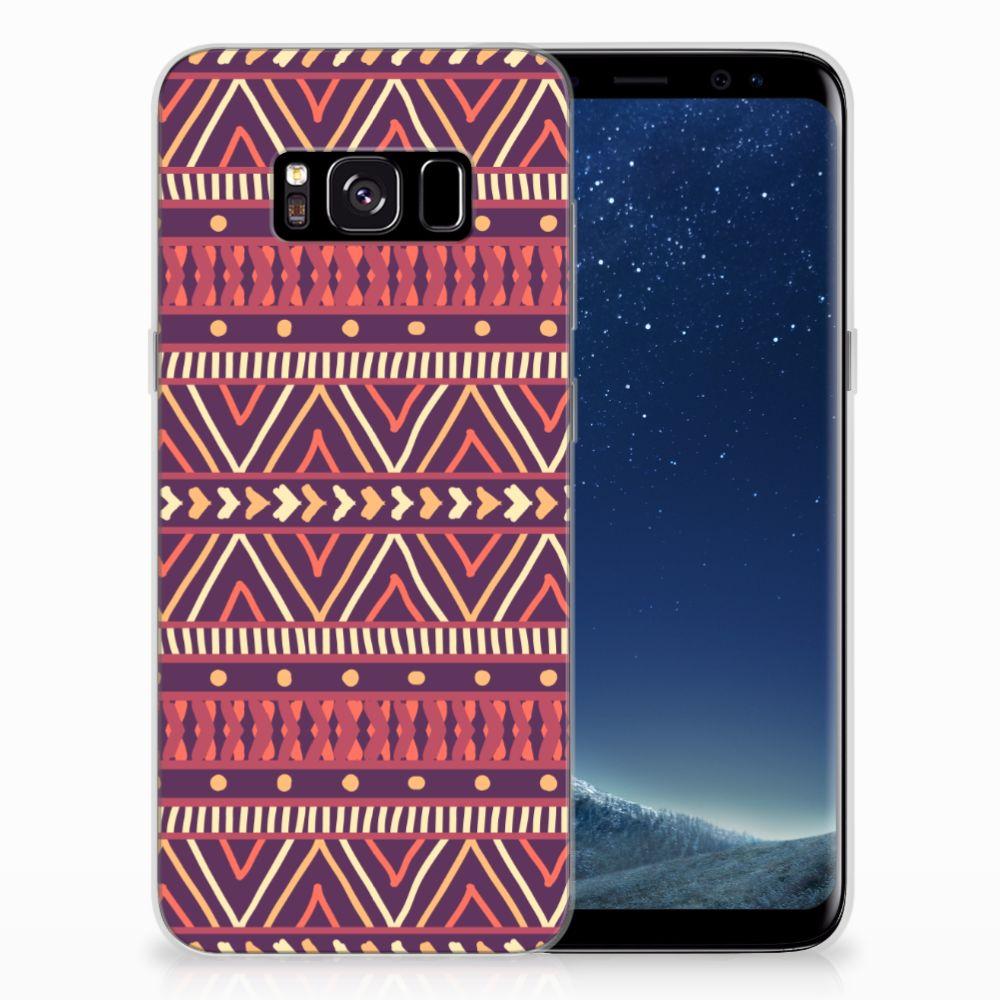 Samsung Galaxy S8 TPU bumper Aztec Paars