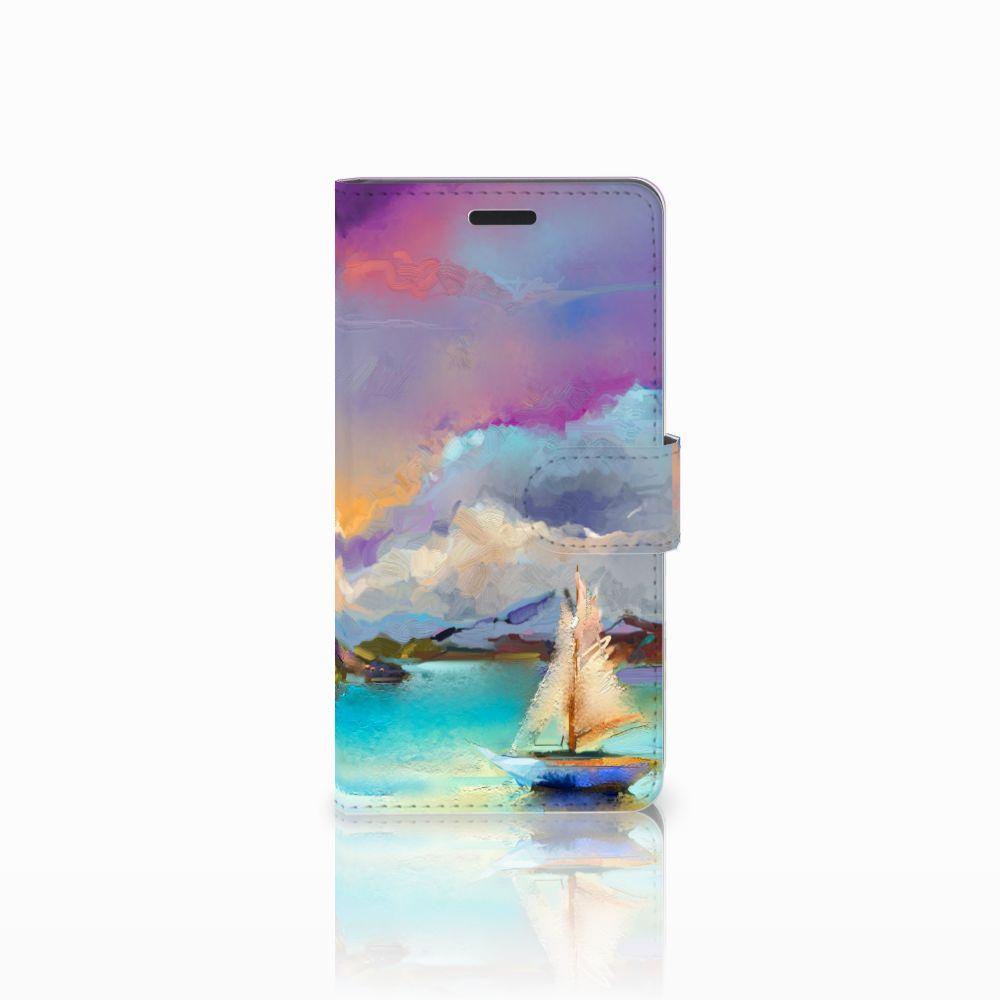 Samsung Galaxy A7 2015 Uniek Boekhoesje Boat