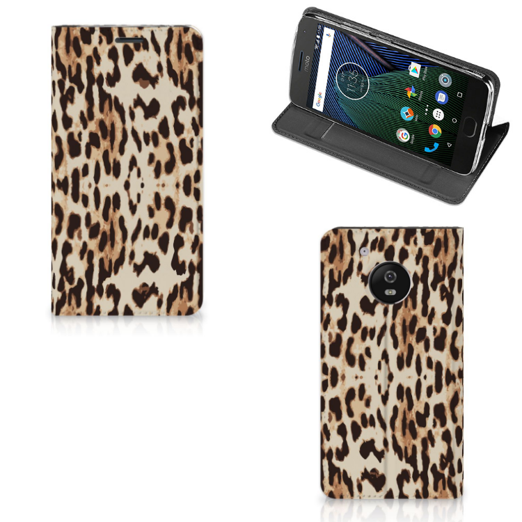 Motorola Moto G5 Hoesje maken Leopard