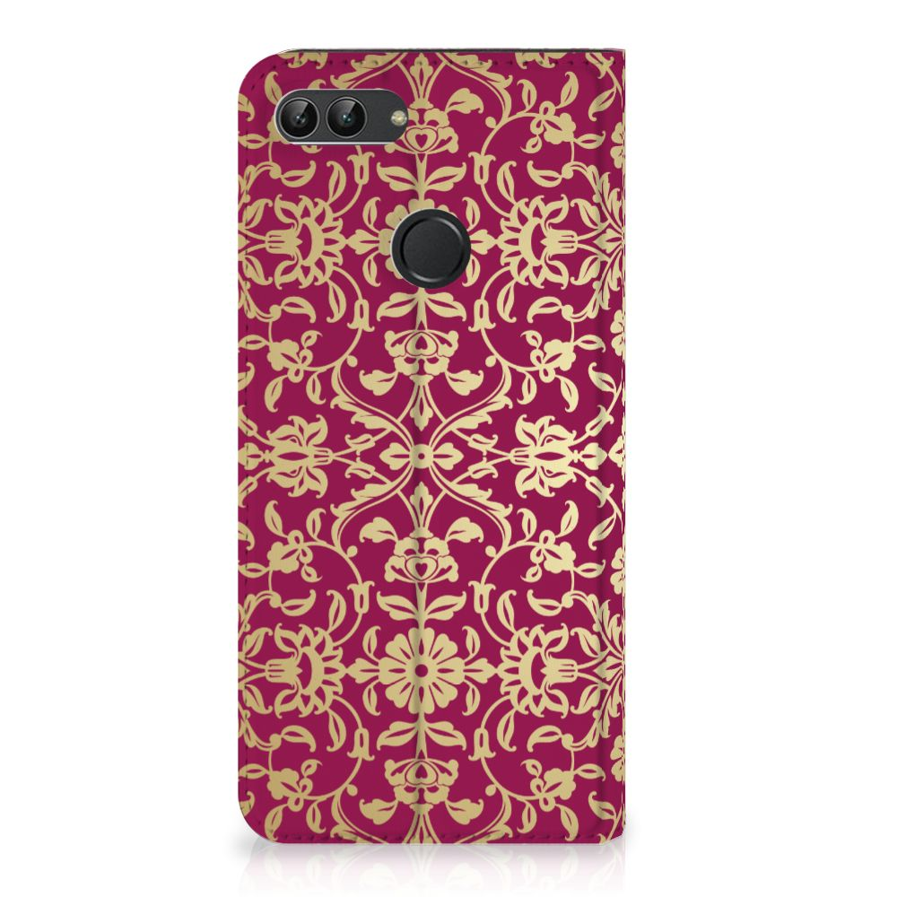 Huawei P Smart Standcase Hoesje Design Barok Pink