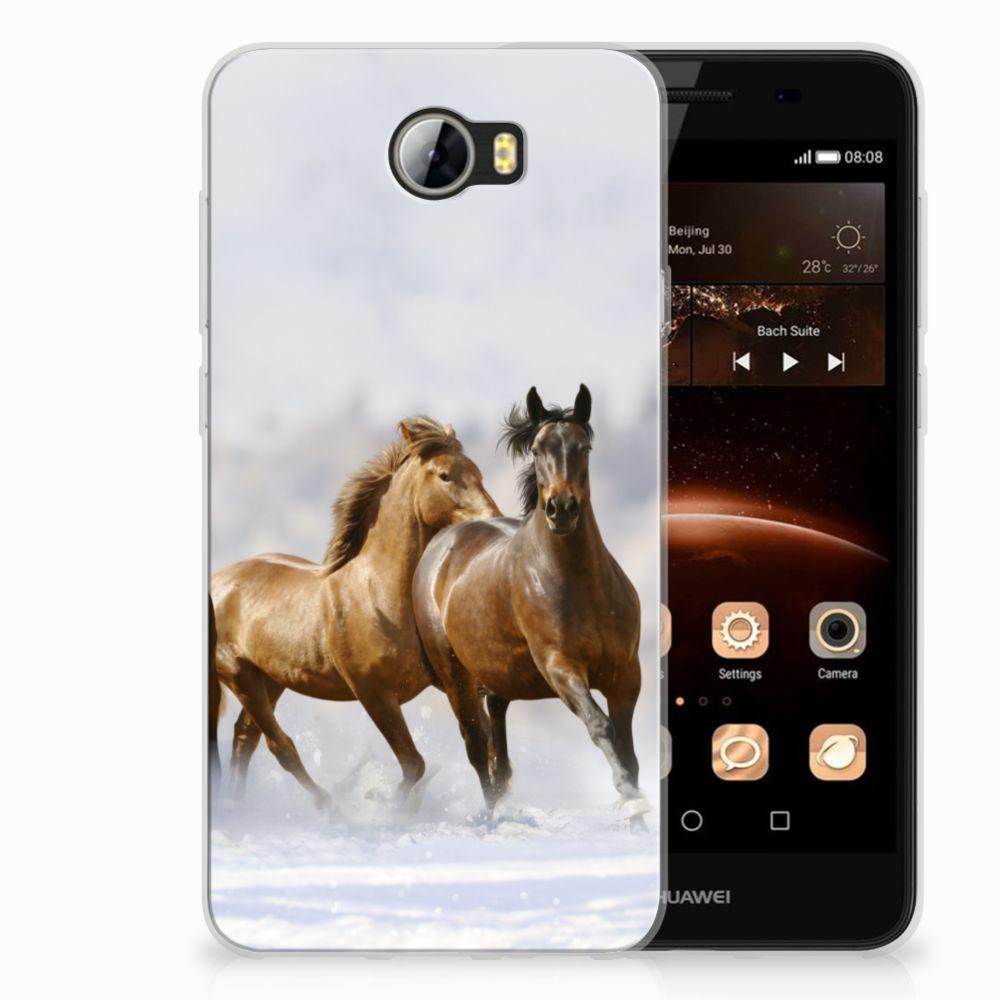 Huawei G8 Uniek TPU Hoesje Paarden