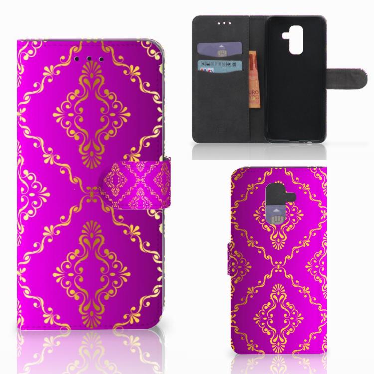 Wallet Case Samsung Galaxy A6 Plus 2018 Barok Roze
