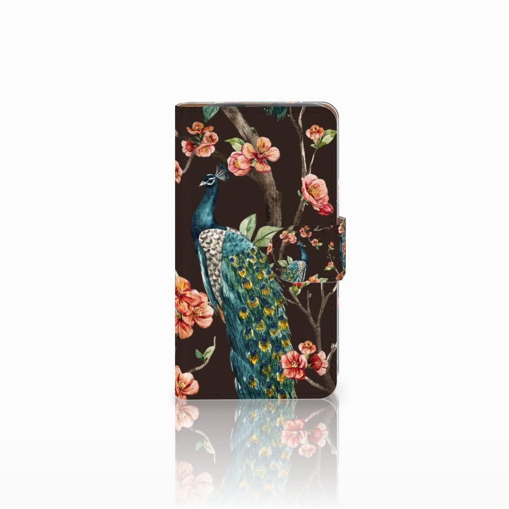 HTC Desire 310 Boekhoesje Design Pauw met Bloemen