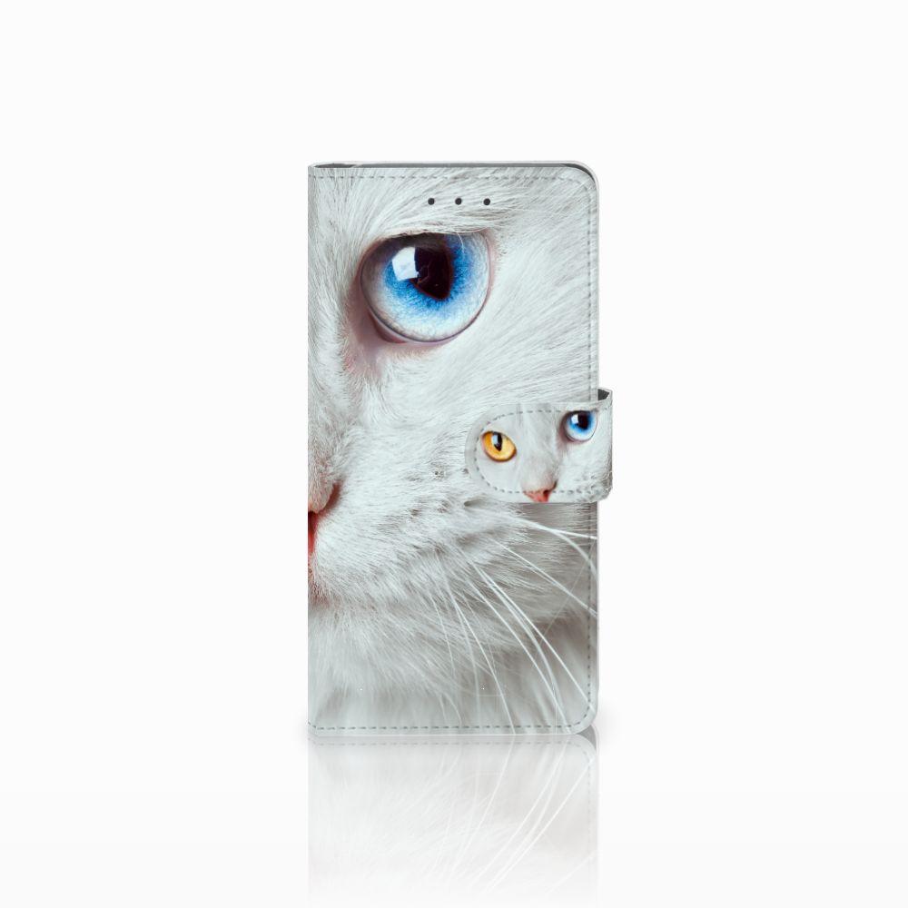 Samsung Galaxy Grand Prime | Grand Prime VE G531F Uniek Boekhoesje Witte Kat