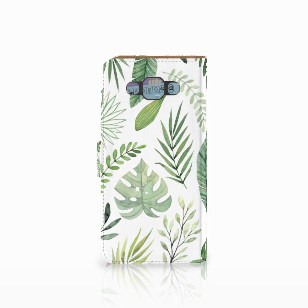 Samsung Galaxy E7 Hoesje Leaves