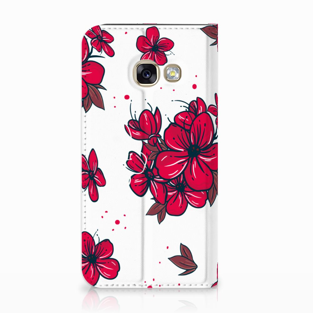 Samsung Galaxy A3 2017 Standcase Hoesje Design Blossom Red