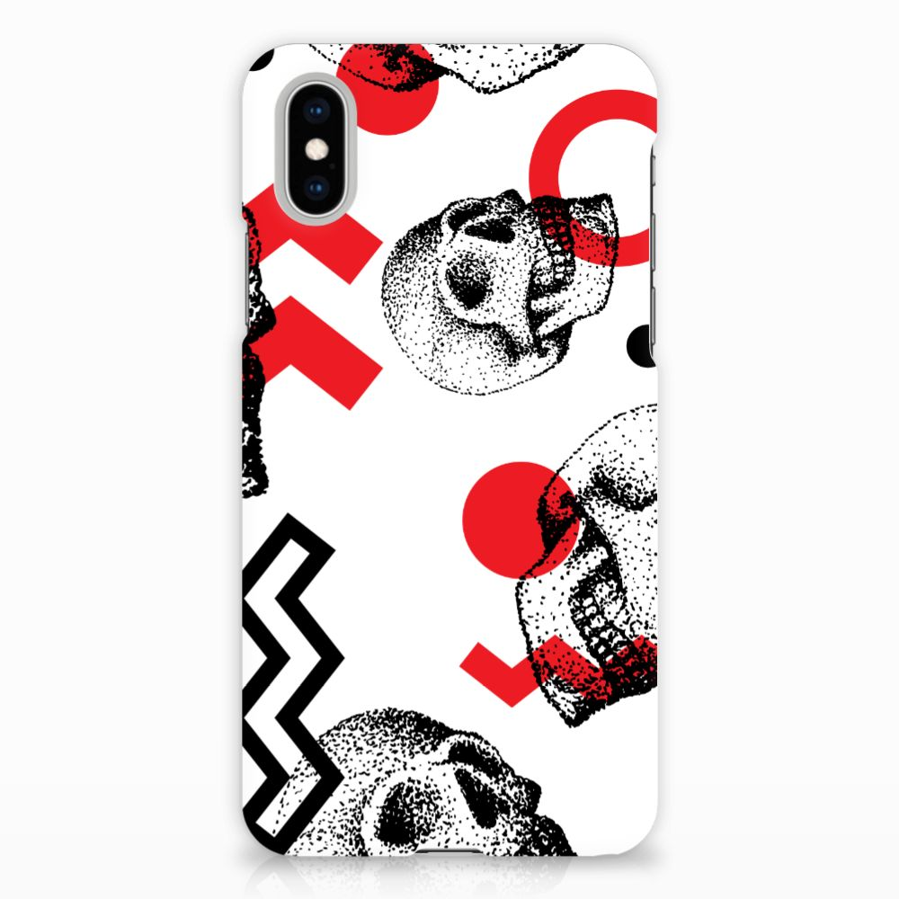Apple iPhone X | Xs Hardcase Hoesje Design Skull Red