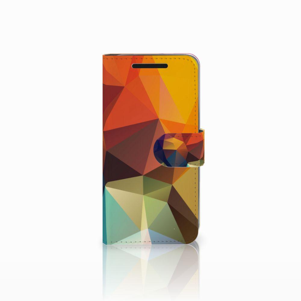 HTC One M9 Bookcase Polygon Color