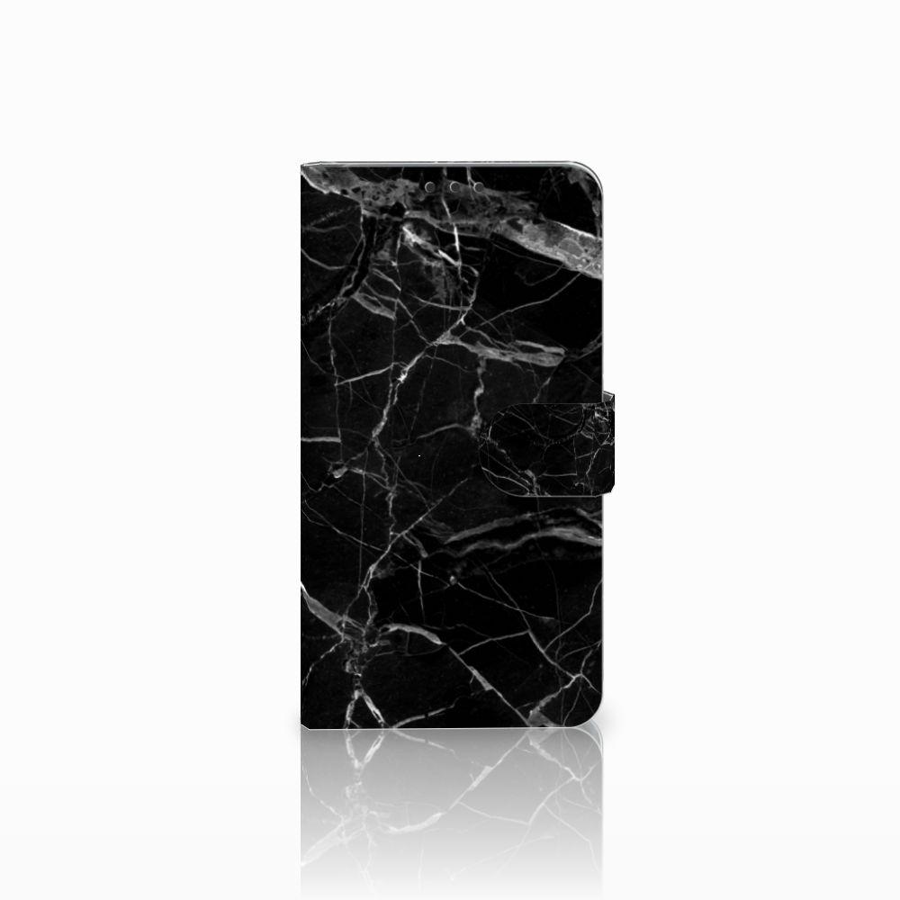 Microsoft Lumia 640 XL Uniek Boekhoesje Marmer Zwart