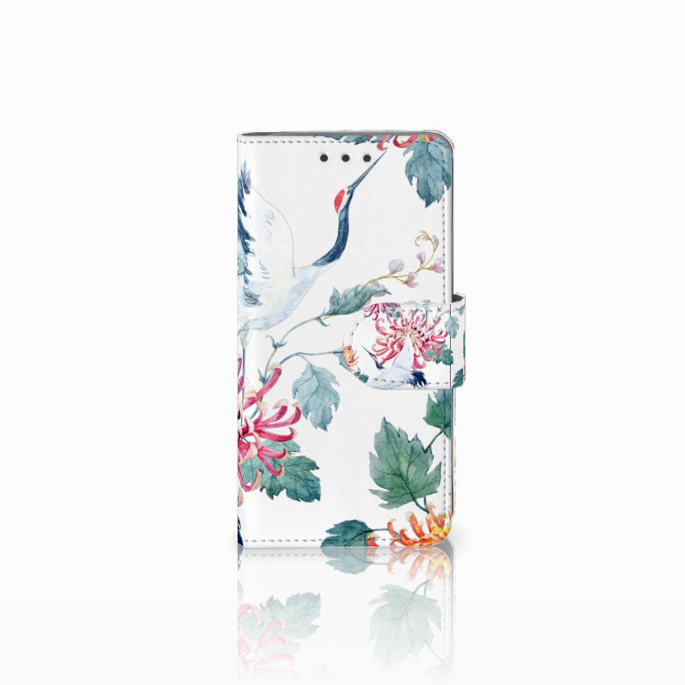Samsung Galaxy A3 2015 Uniek Boekhoesje Bird Flowers