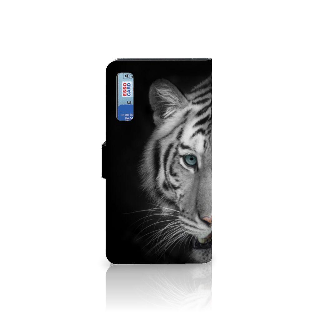 Samsung Galaxy A7 (2018) Telefoonhoesje met Pasjes Tijger