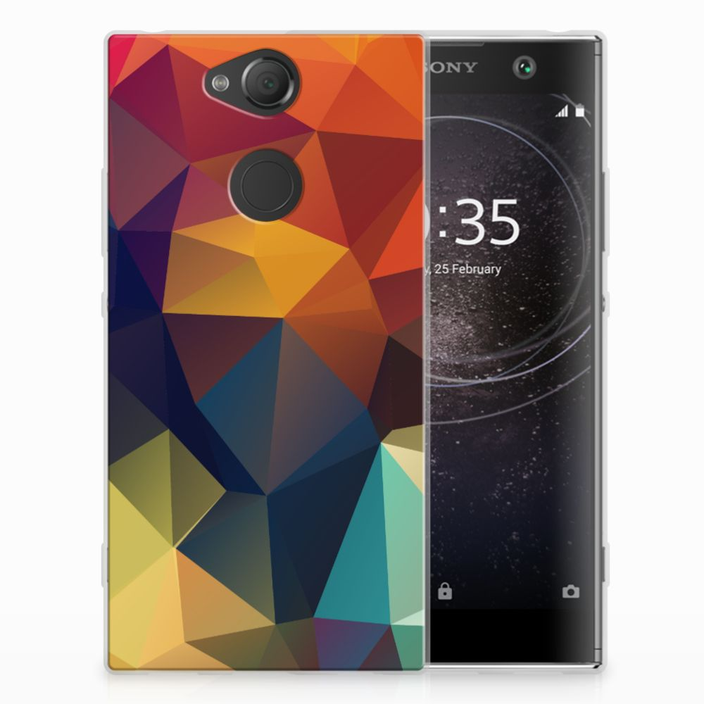 Sony Xperia XA2 TPU Hoesje Polygon Color