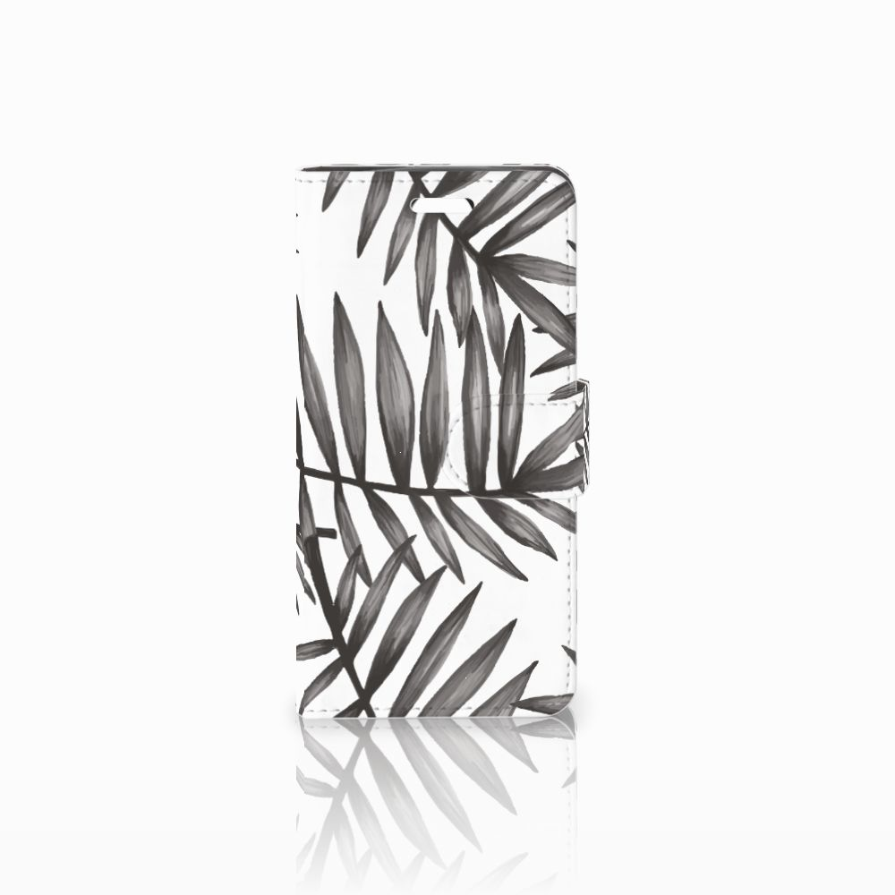 Acer Liquid Z330 Uniek Boekhoesje Leaves Grey
