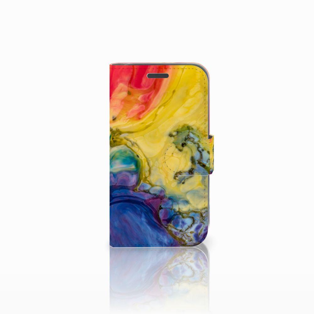 Samsung Galaxy J1 2016 Uniek Boekhoesje Watercolor Dark