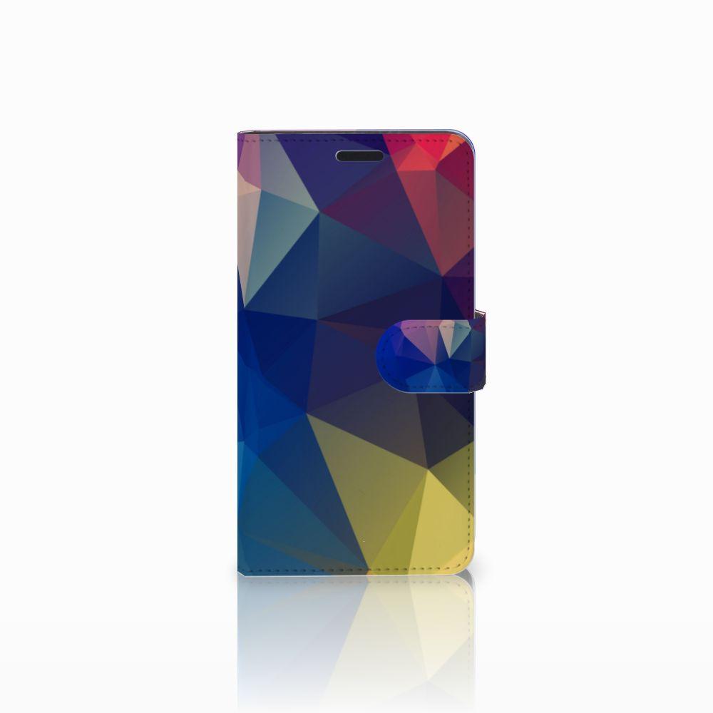 Sony Xperia T3 Uniek Boekhoesje Polygon Dark