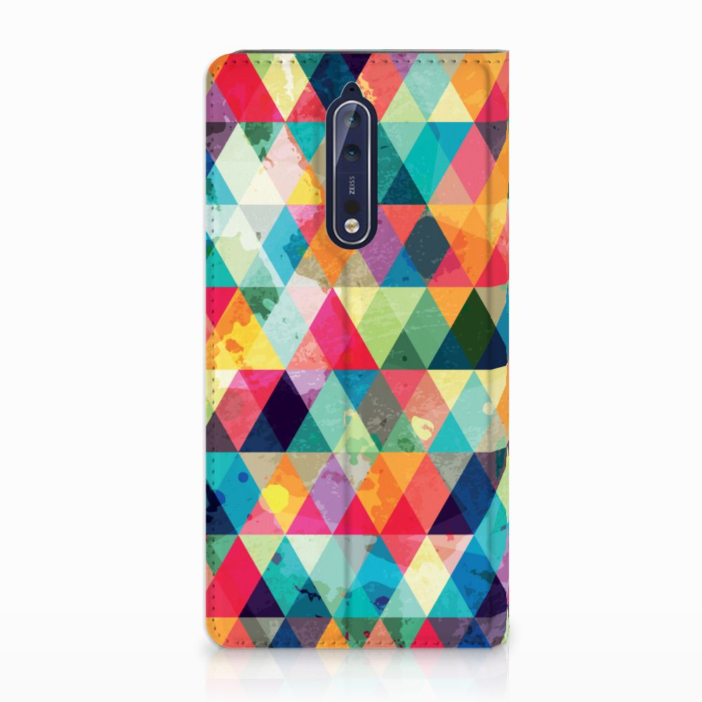 Nokia 8 Uniek Standcase Hoesje Geruit