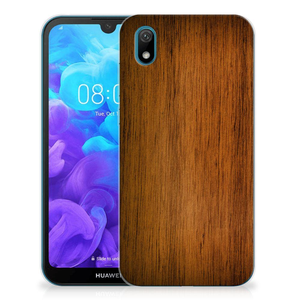 Huawei Y5 (2019) Bumper Hoesje Donker Hout