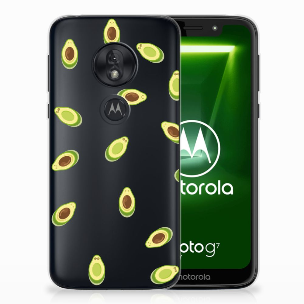Motorola Moto G7 Play Siliconen Case Avocado