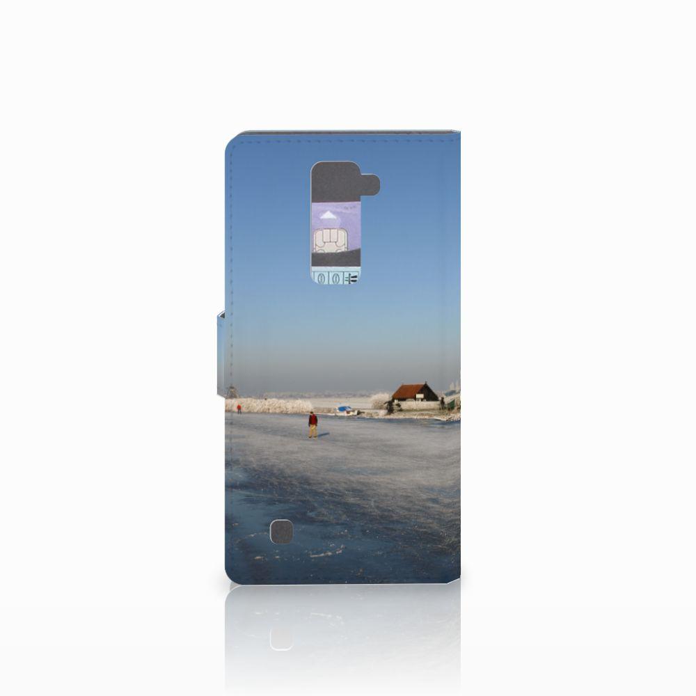LG K10 2015 Flip Cover Schaatsers