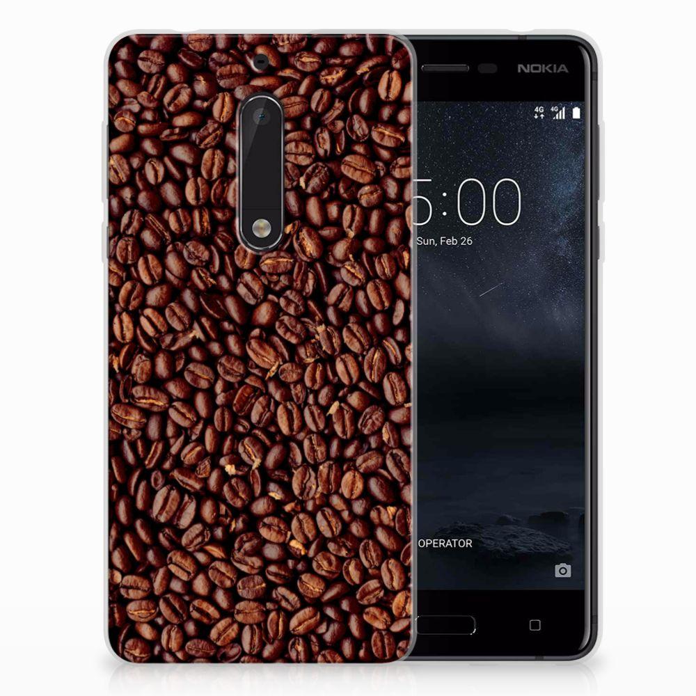 Nokia 5 Siliconen Case Koffiebonen