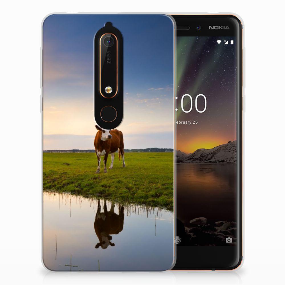 Nokia 6 (2018) TPU Hoesje Design Koe