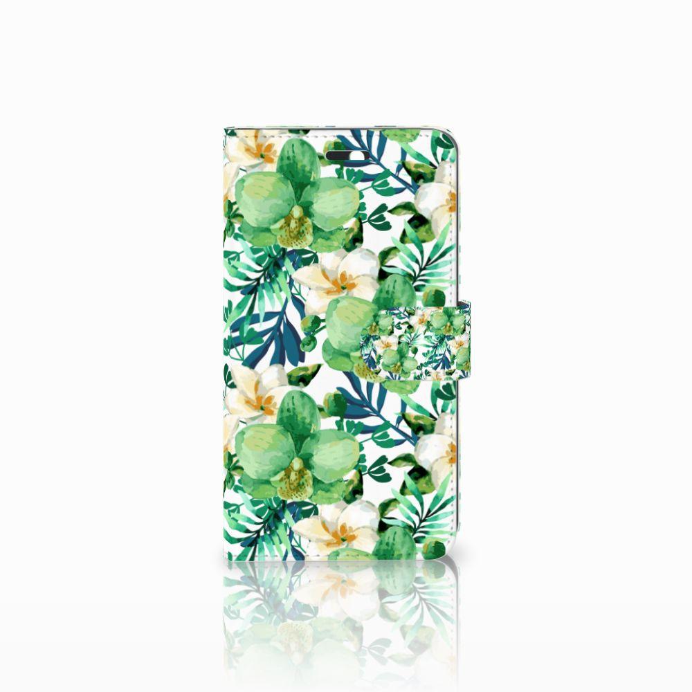 Huawei Y6 II | Honor 5A Uniek Boekhoesje Orchidee Groen