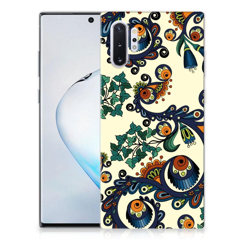 Siliconen Hoesje Samsung Galaxy Note 10 Plus Barok Flower