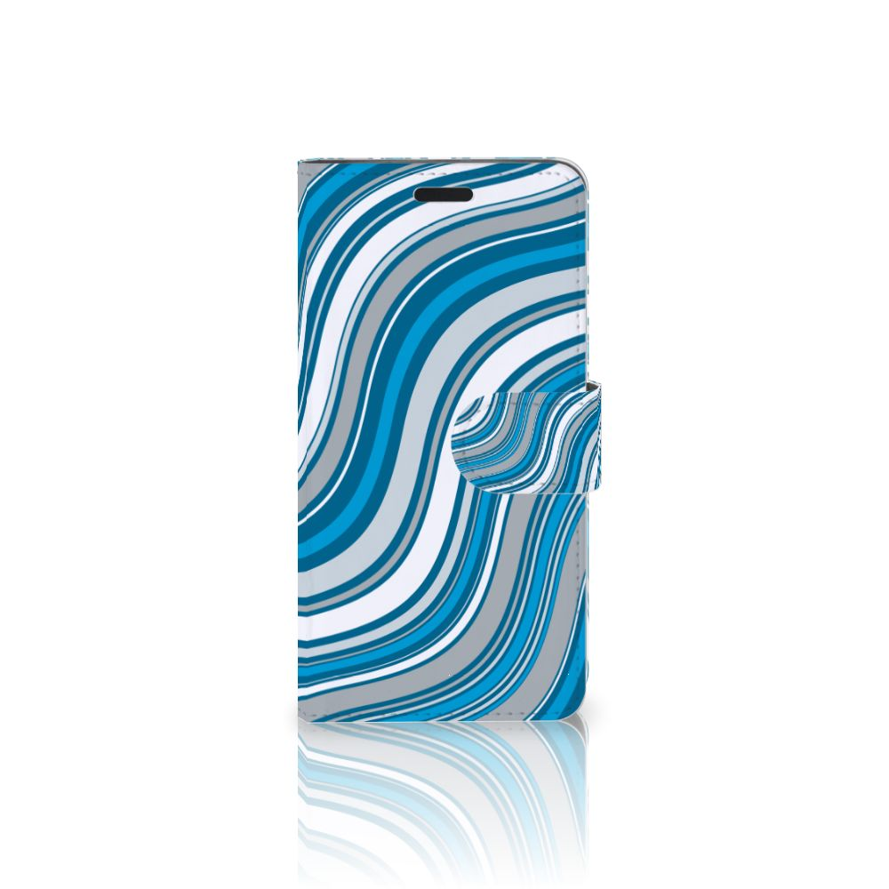 HTC 10 Boekhoesje Design Waves Blue
