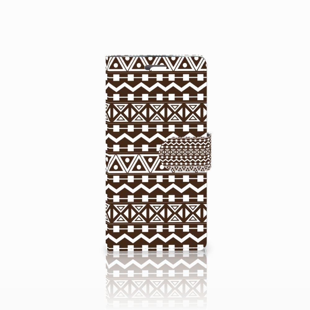 LG K10 2015 Uniek Boekhoesje Aztec Brown