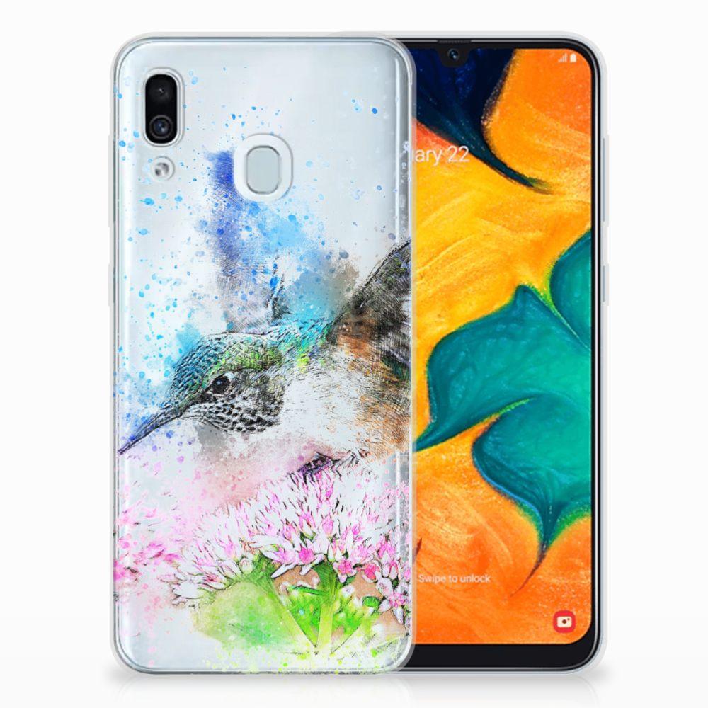 Samsung Galaxy A30 TPU Hoesje Design Vogel