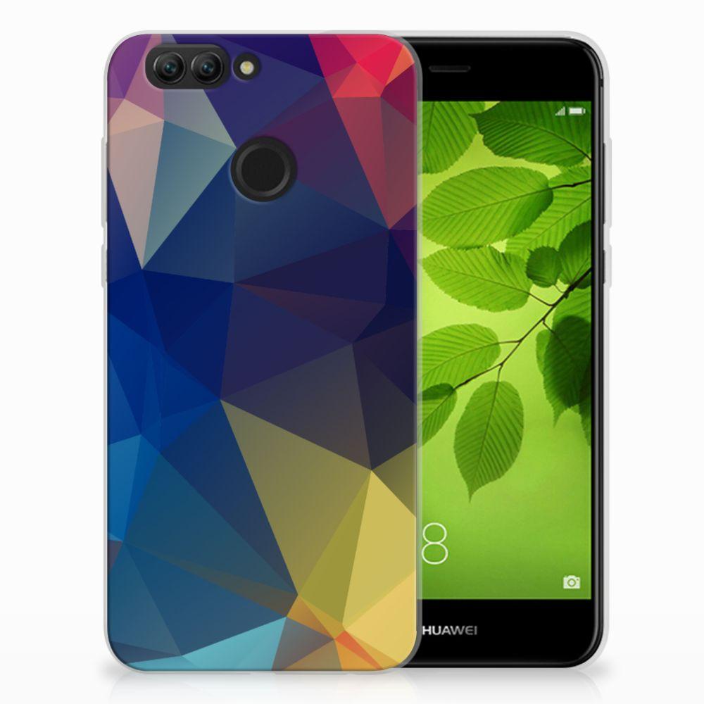 Huawei Nova 2 TPU Hoesje Polygon Dark