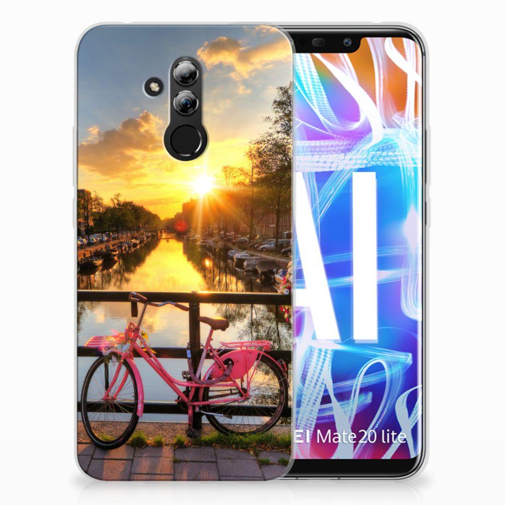 Huawei Mate 20 Lite Uniek TPU Hoesje Amsterdamse Grachten