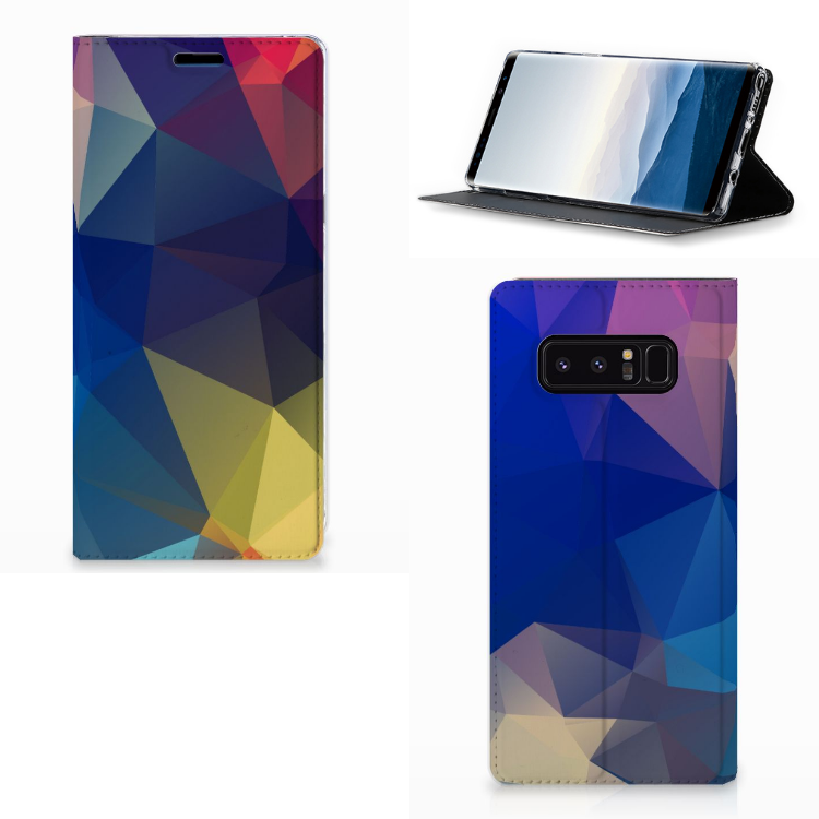 Samsung Galaxy Note 8 Stand Case Polygon Dark