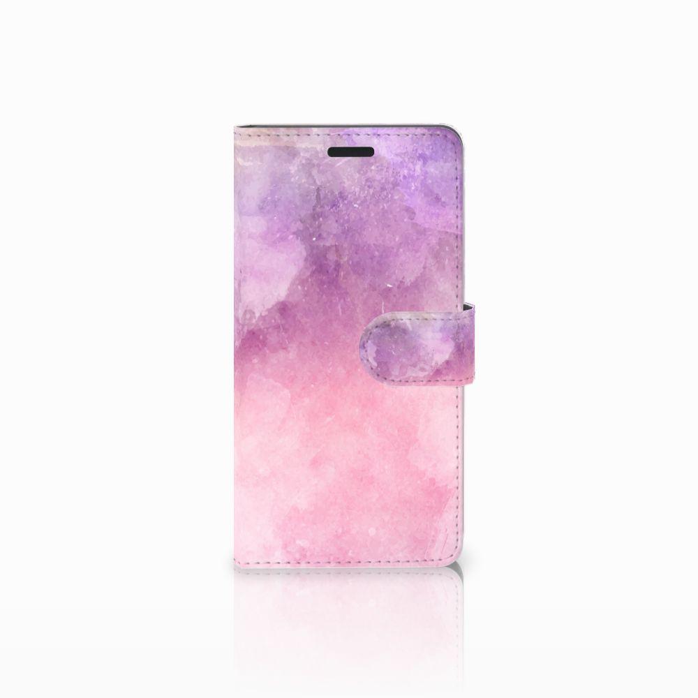 Samsung Galaxy A7 2015 Boekhoesje Design Pink Purple Paint