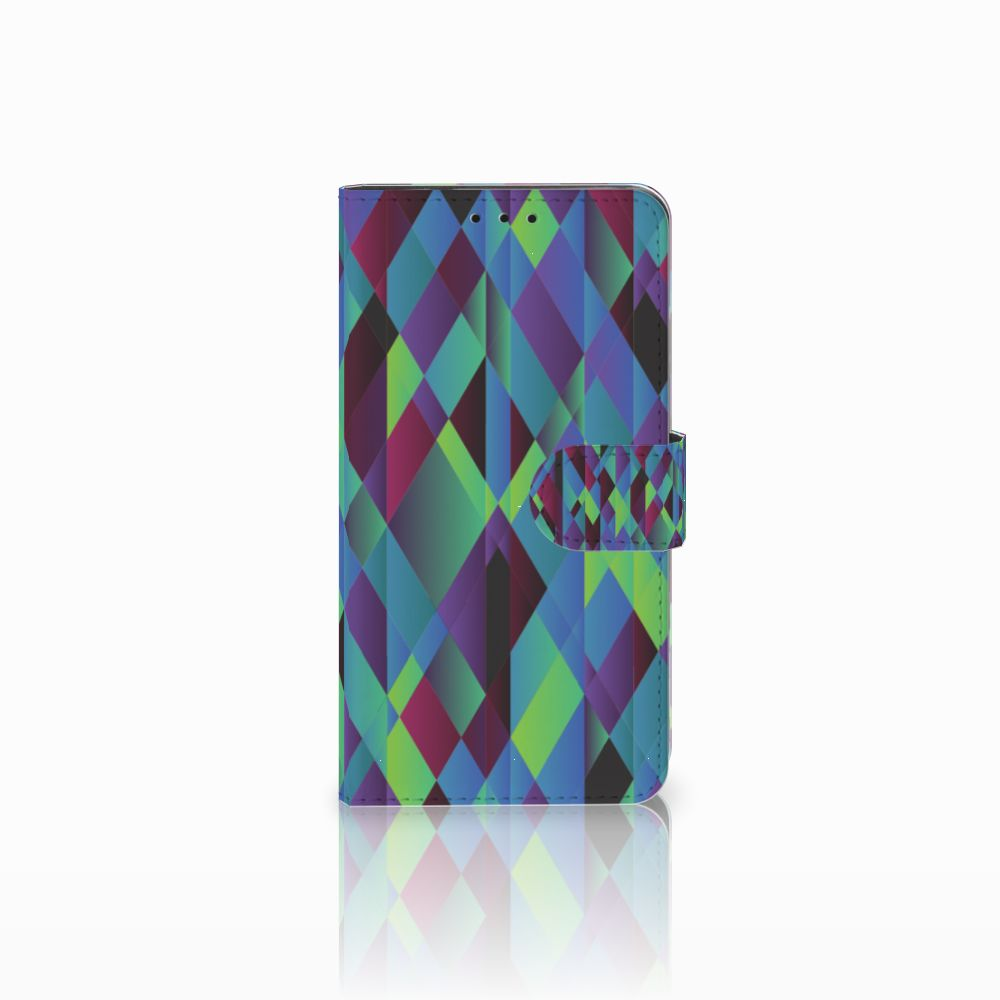 Huawei Honor 6X Bookcase Abstract Green Blue