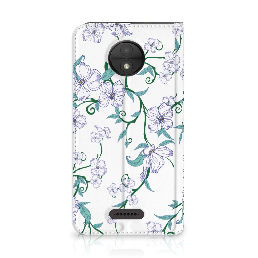 Motorola Moto C Uniek Standcase Hoesje Blossom White