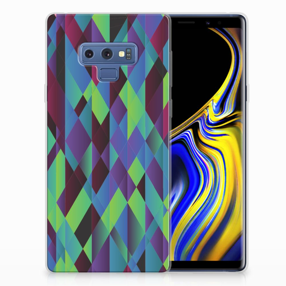 Samsung Galaxy Note 9 TPU Hoesje Abstract Green Blue