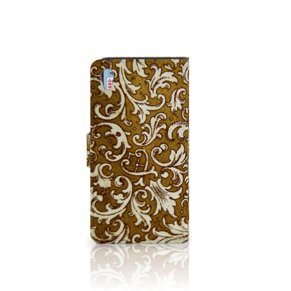 Wallet Case Sony Xperia Z2 Barok Goud