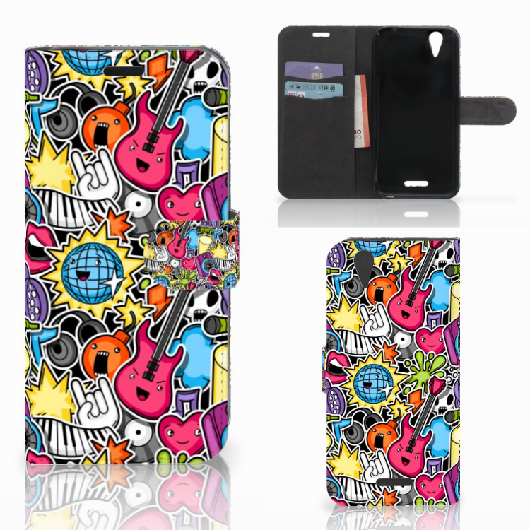 Acer Liquid Z630 | Z630s Wallet Case met Pasjes Punk Rock