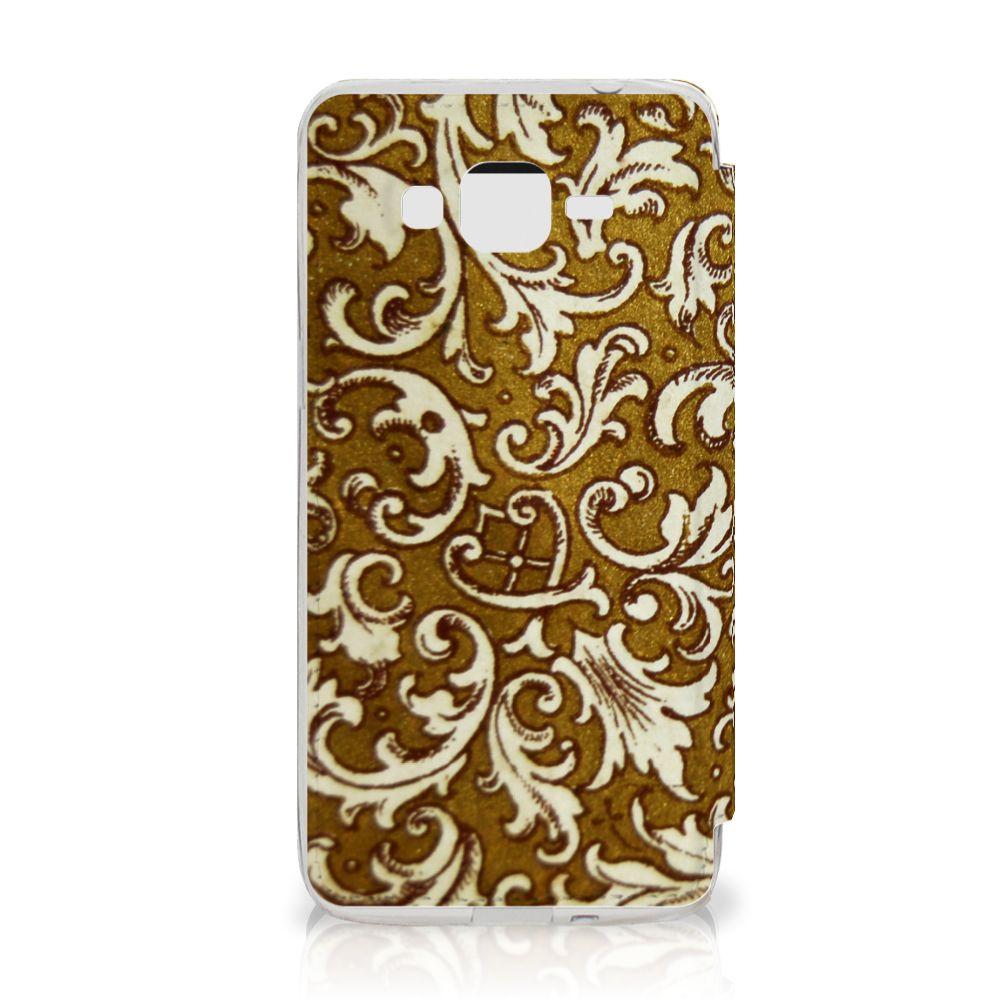 Wallet Case Samsung Galaxy Grand Prime Barok Goud