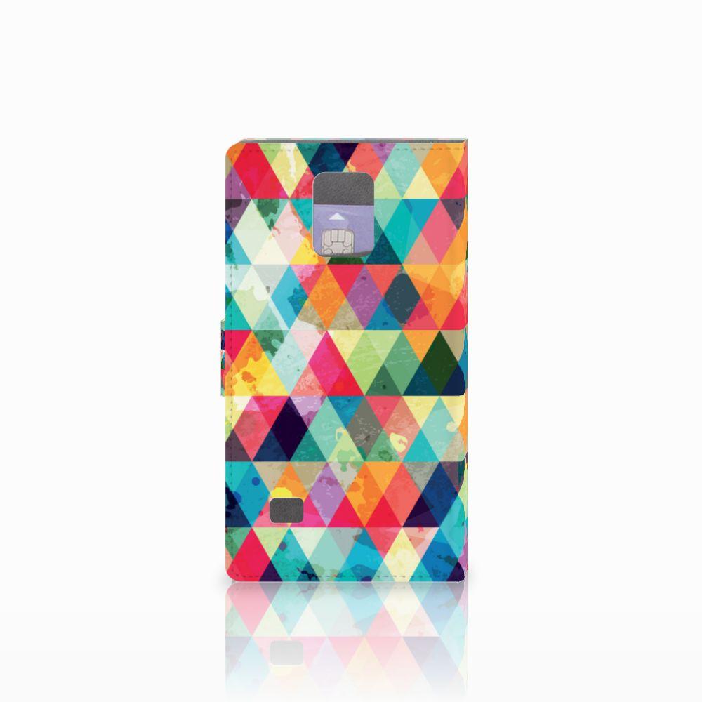 Samsung Galaxy Note 4 Telefoon Hoesje Geruit