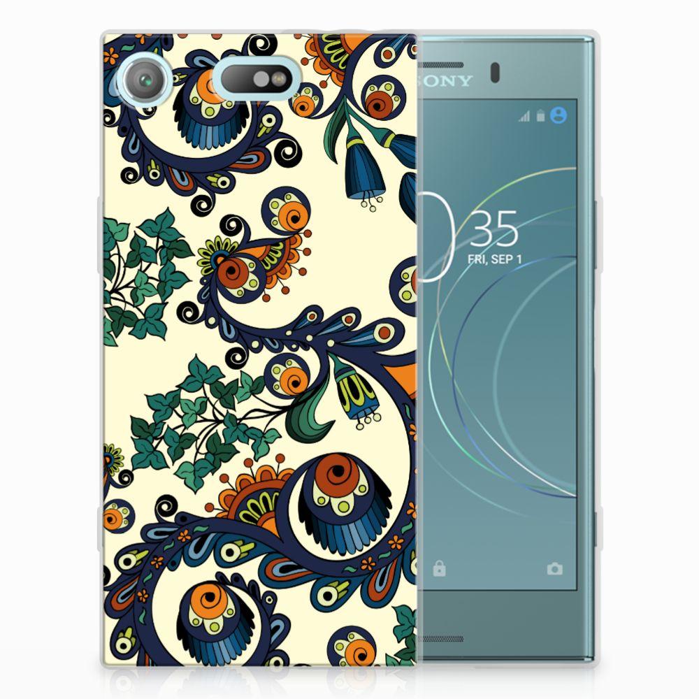 Siliconen Hoesje Sony Xperia XZ1 Compact Barok Flower