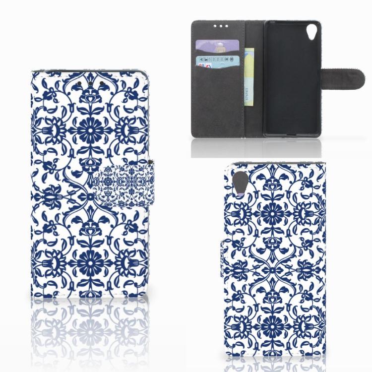 Sony Xperia X Hoesje Flower Blue