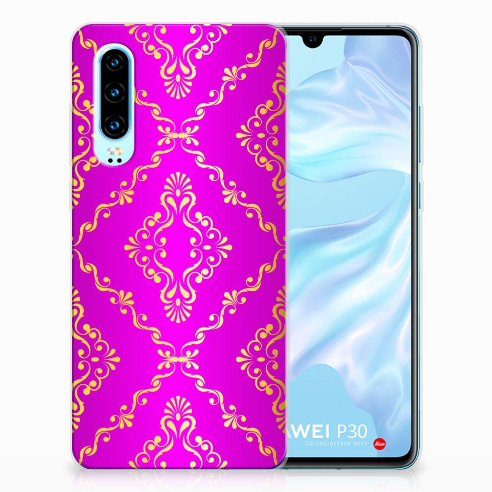 Siliconen Hoesje Huawei P30 Barok Roze