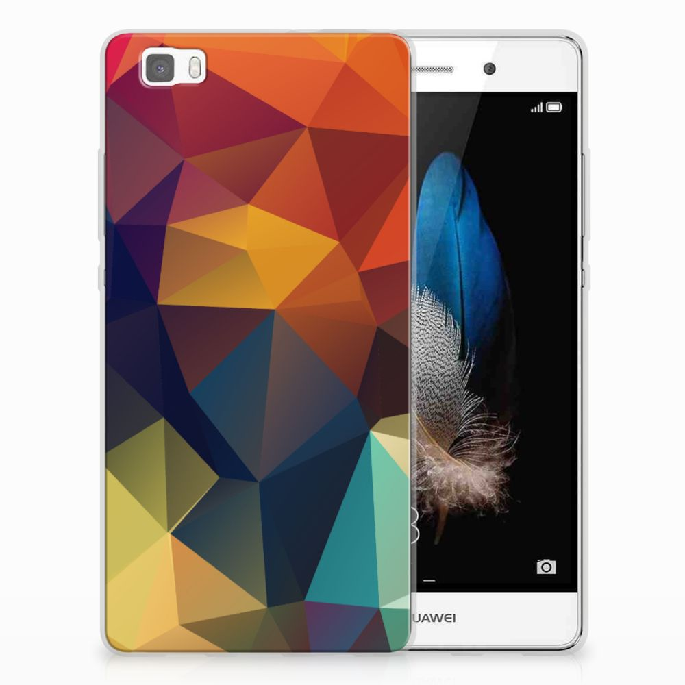 Huawei Ascend P8 Lite TPU Hoesje Polygon Color