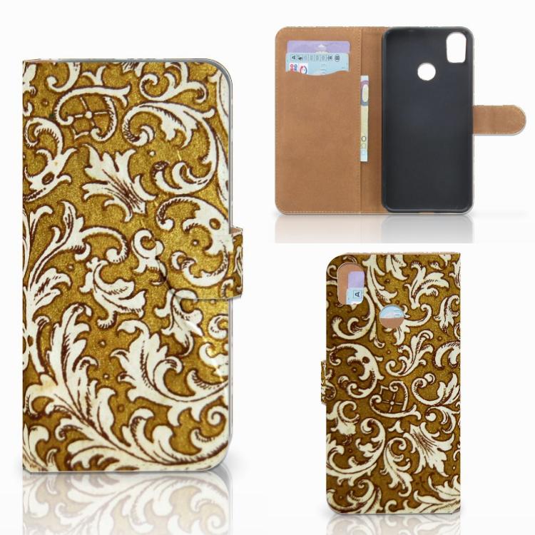 Wallet Case HTC Desire 10 Pro Barok Goud