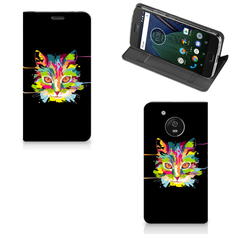 Motorola Moto G5 Magnet Case Cat Color