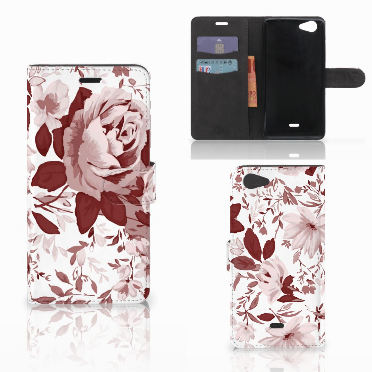 Hoesje Wiko Pulp Fab 4G Watercolor Flowers