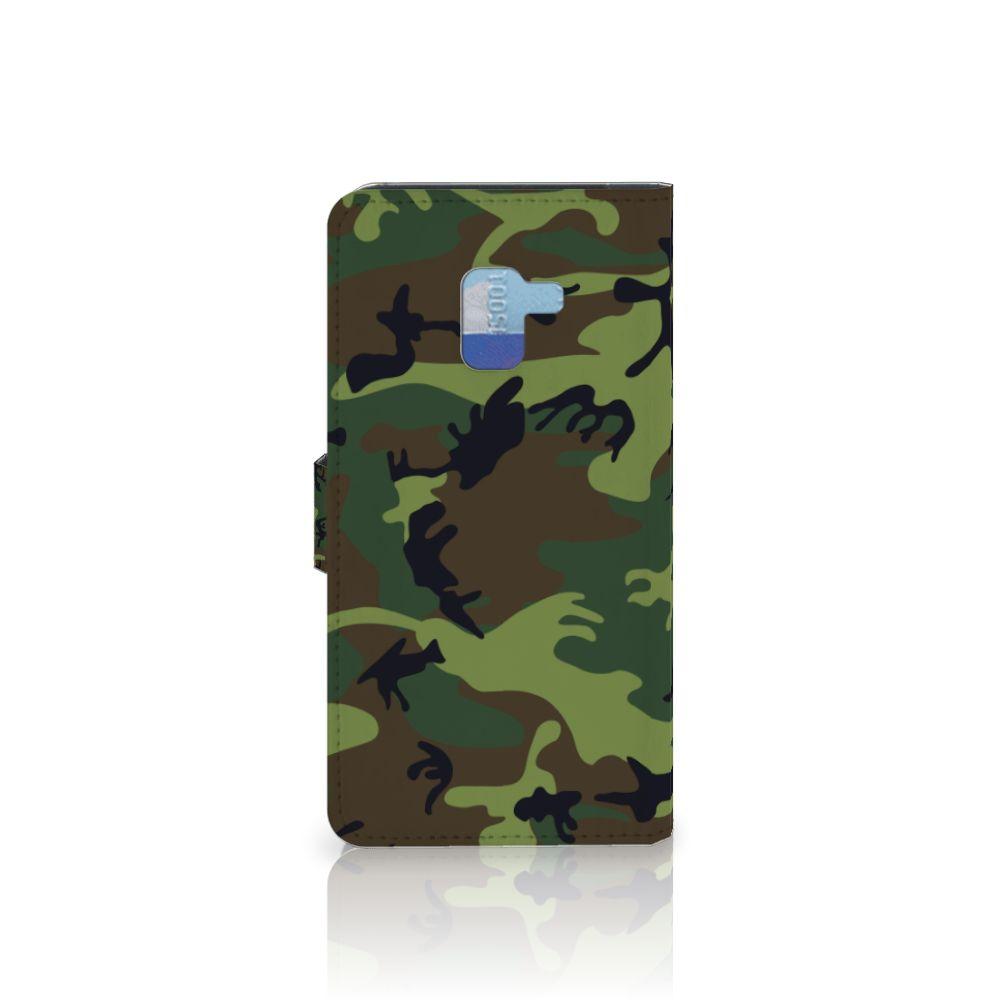 Samsung Galaxy A8 Plus (2018) Telefoon Hoesje Army Dark