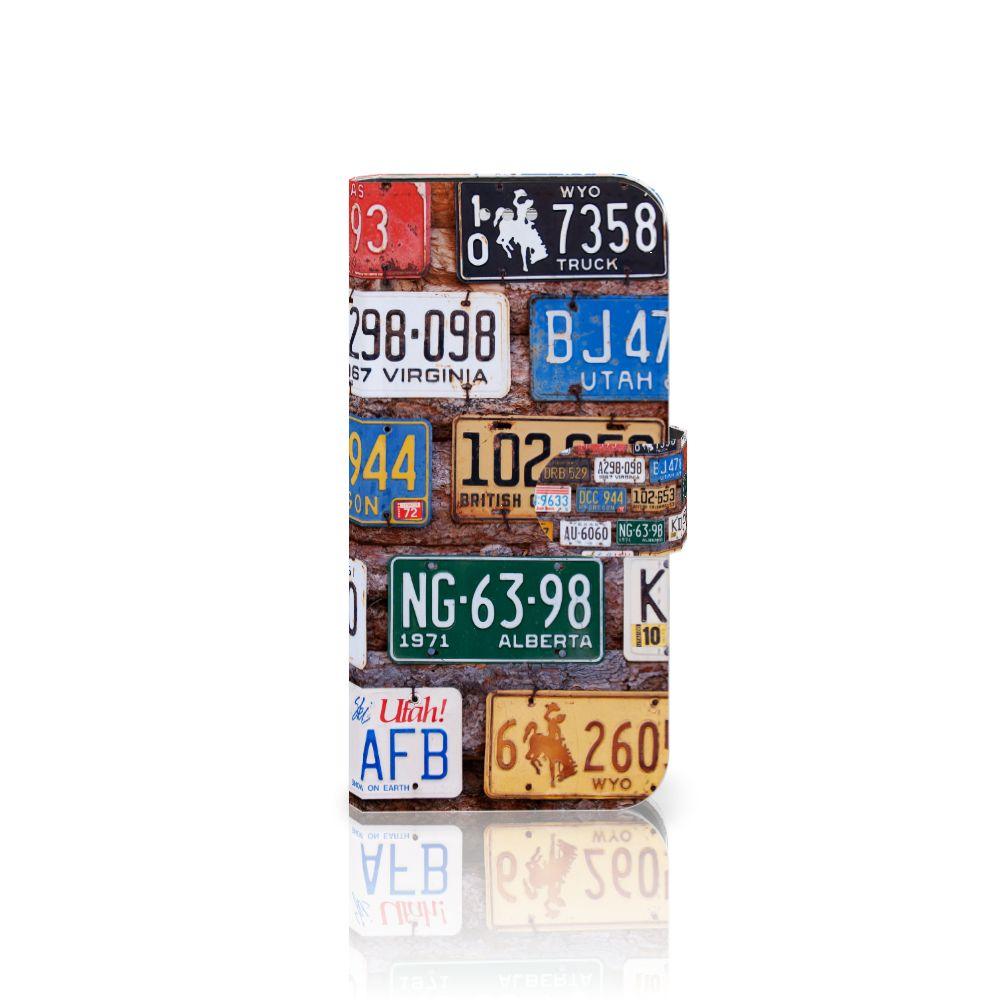 Samsung Galaxy S7 Uniek Boekhoesje Kentekenplaten